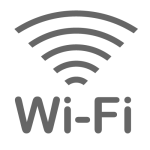 The Wi-Fi is available.